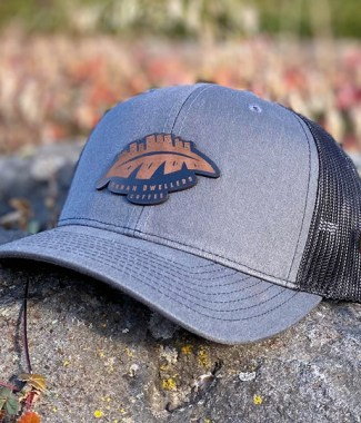 Grey and Black Patch Hat