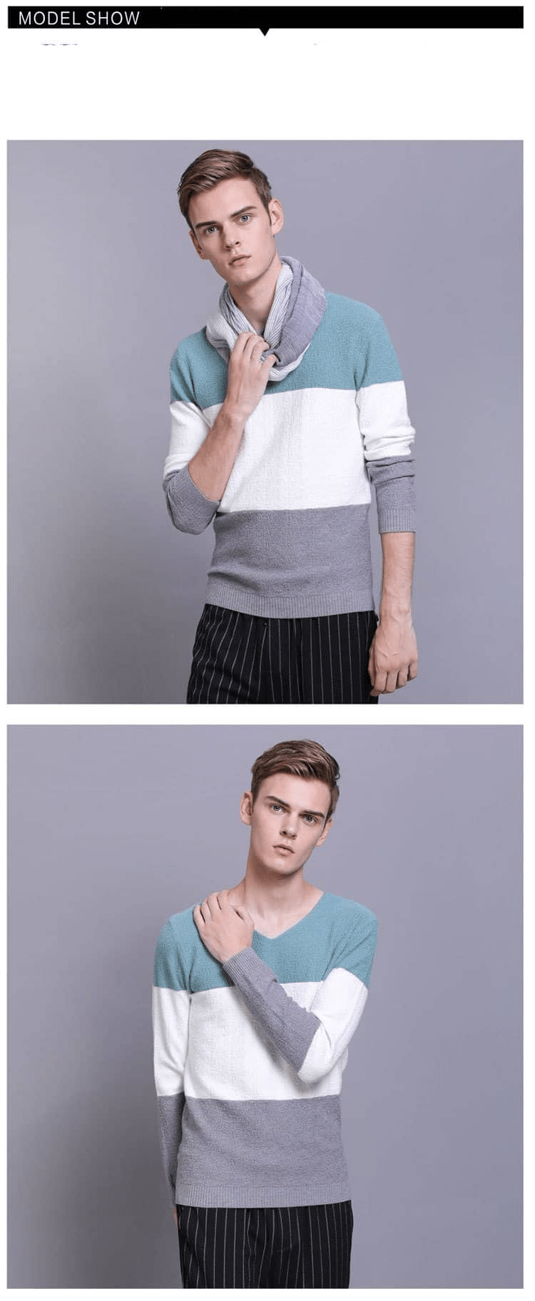 , Men's Casual Lightweight Sweater Three-color Knitwear, Urbane London