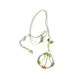 Silver Circle Mixed Metal Necklace