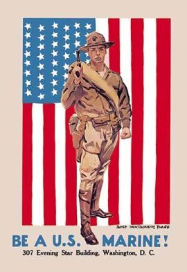 marine corps wall art