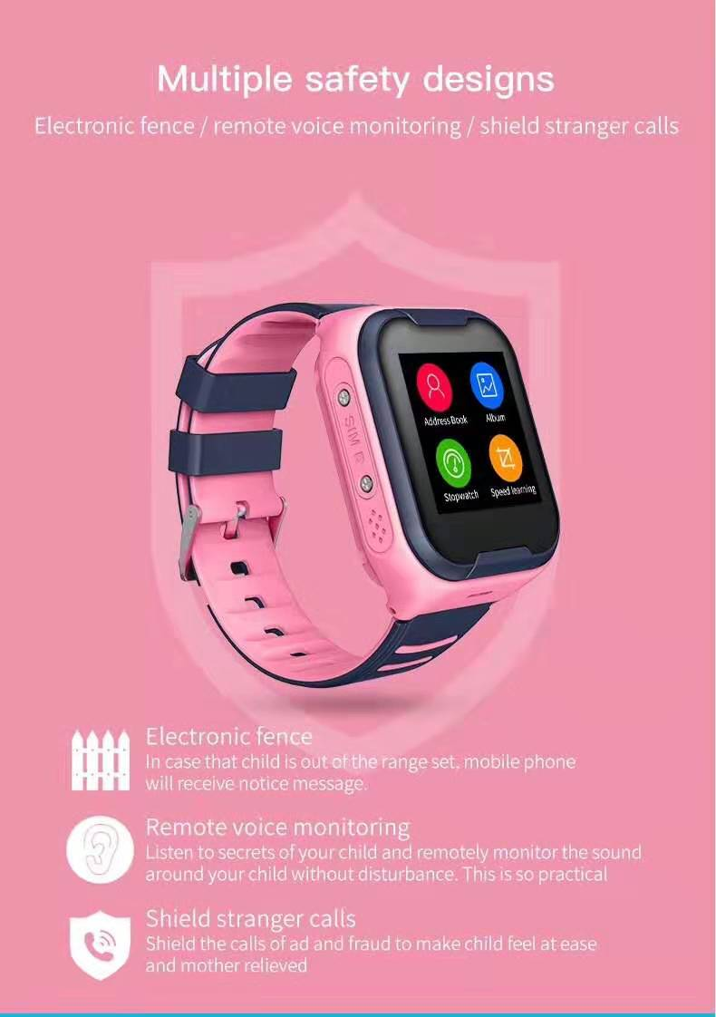 LEMFO G4H 4G Kids Smart Watch GPS Wifi Ip67 Waterproof 650Mah Big Battery 1.4 Inch Display Camera Take Video Smartwatch Kids