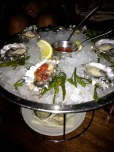 Raw bar: Oysters on the halfshell