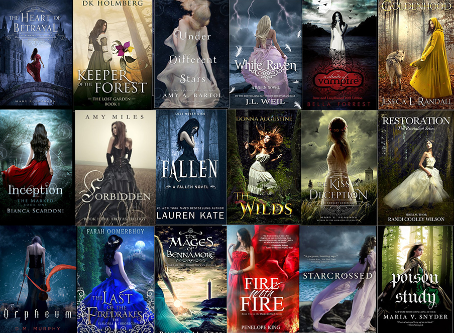 Girls in dresses: YA fantasy book cover cliches we love