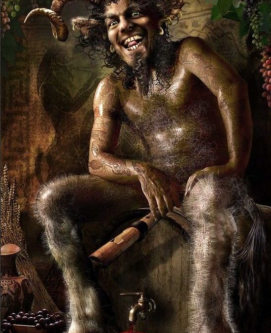 The difference between fauns and satyrs