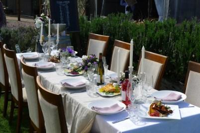 Table setting | Urban Escargot Wedding Catering