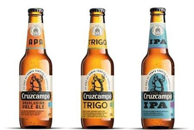 cervezas artesanas de Cruzcampo