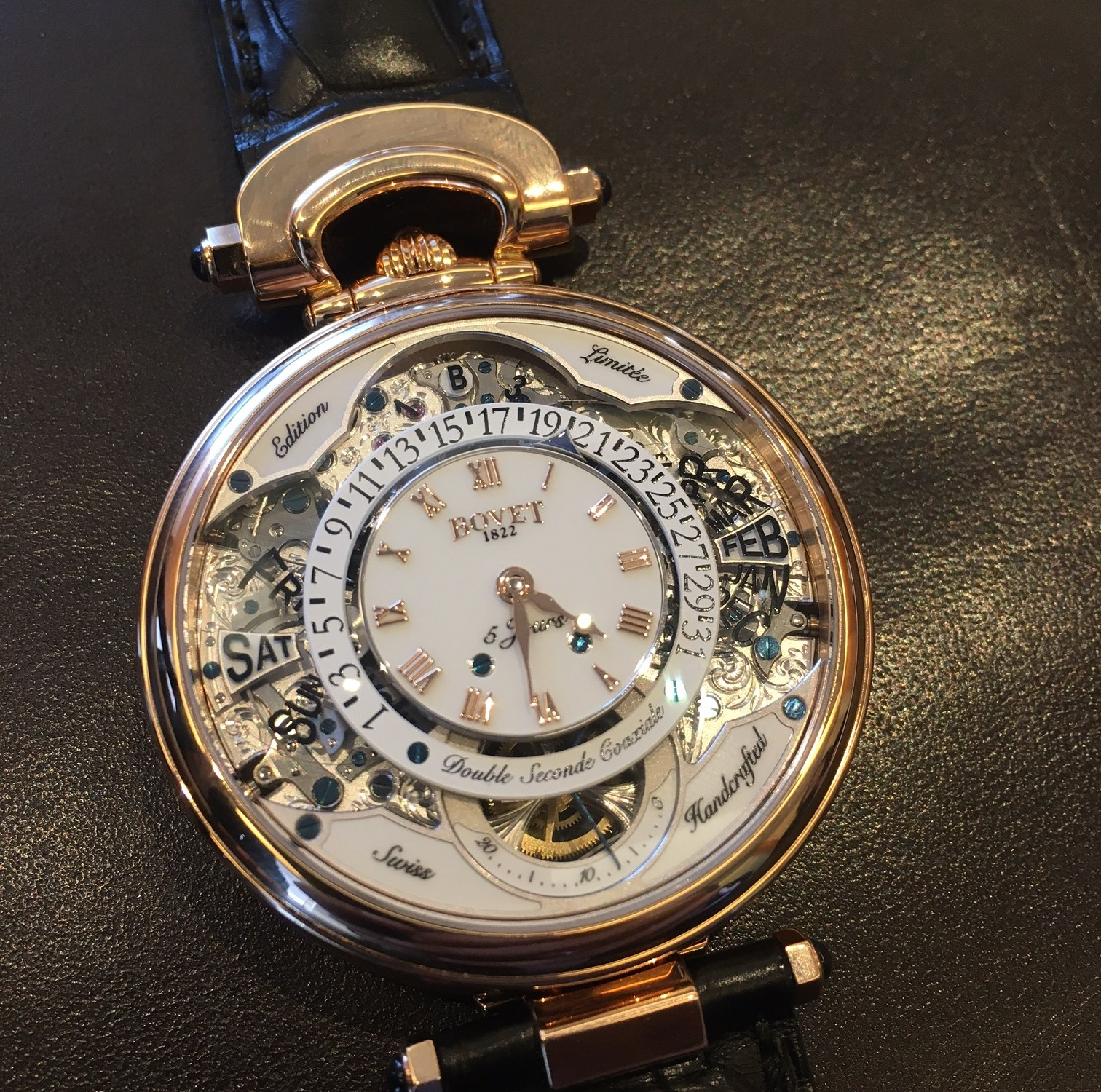 hand luxury dial watches in bovet swiss mechanical color singapore wind