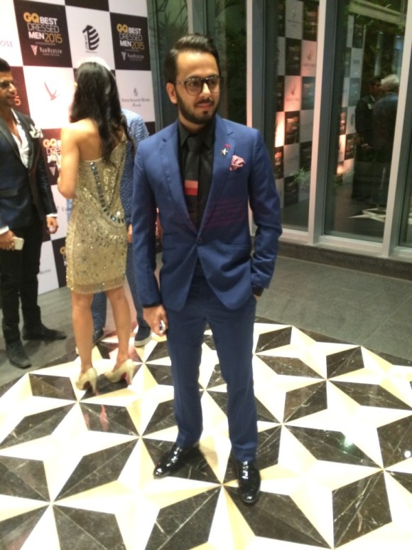 Another dapper appearance that evening was Sohel Lalvani, designer of The Brocode, one of India's coolest new men's accessories brands. A sharp suit, paired with even sharper accessories.