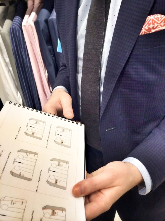 Choosing suit fabrics: a day in the life of a Mumbai boy indeed.