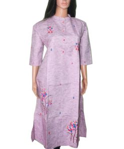 a line kurti Chinese collor