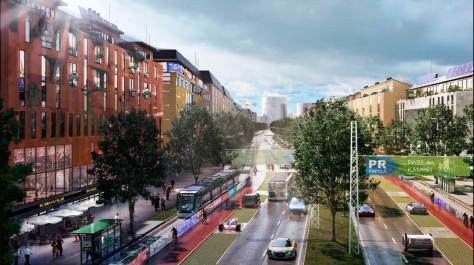 A future boulevard in Helsinki. Source: 3drender