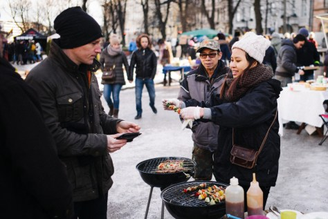 Restaurant Day seeks to transform Helsinki's food and restaurant policies as well as to make the city more sociable. Photo credit: Roy Bäckström.