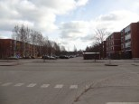 Wide streets, wide parking lots.