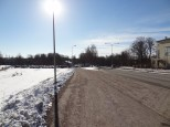 Just a few hundred meters from the station in Malmi.