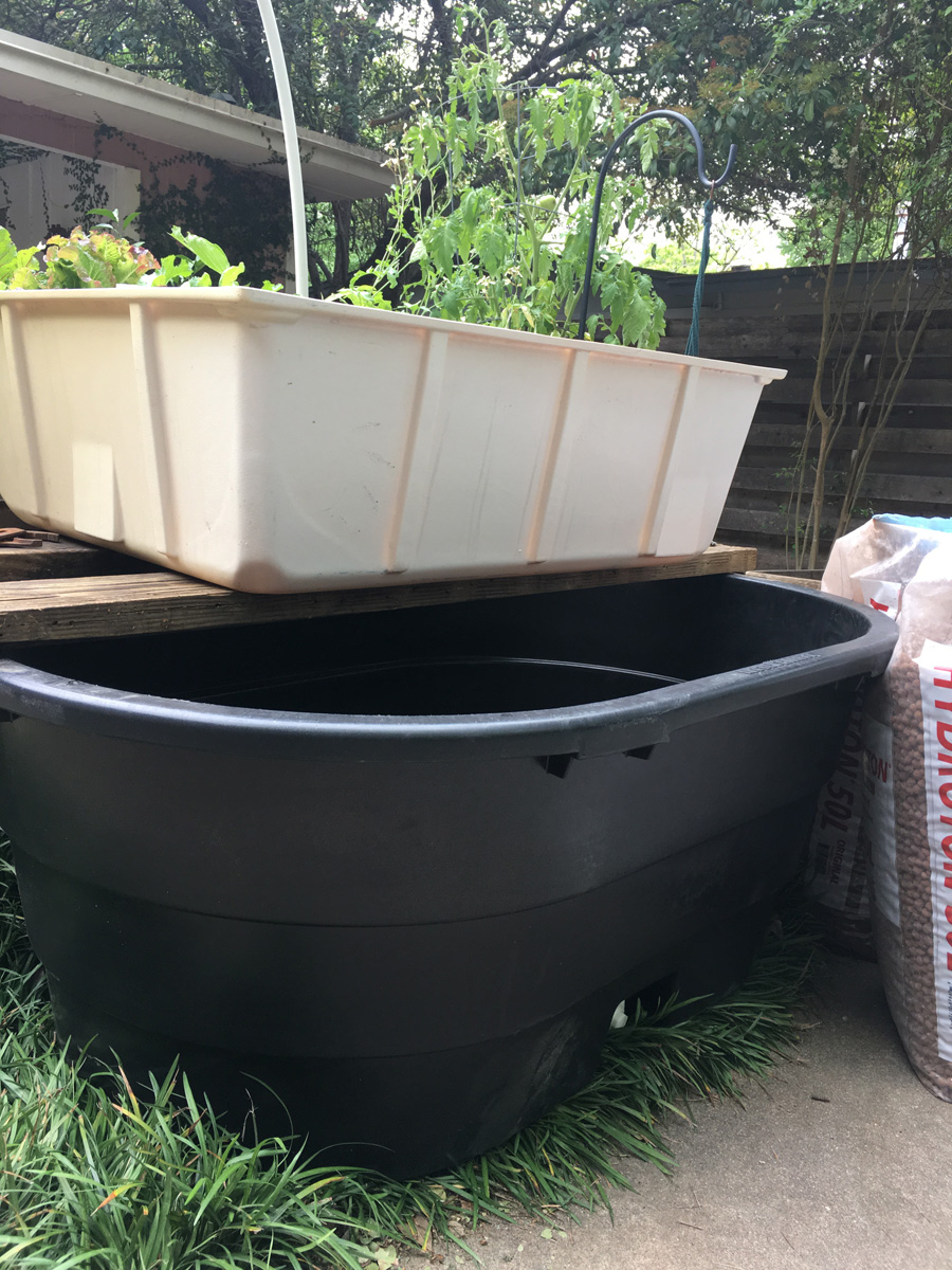 Tank and grow bed