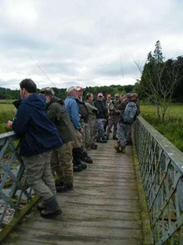 Bridges attract anglers..