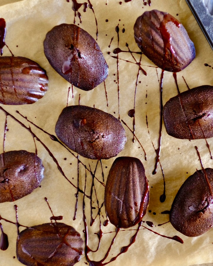 Brown Butter Chocolate Madeleines