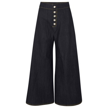 Paper London - Coco high-rise wide-leg jeans