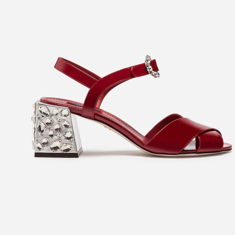 Dolce & Gabbana - Leather Sandal With Embroidery