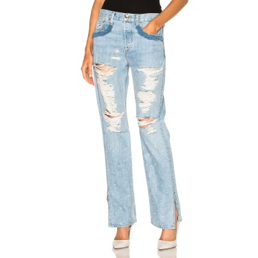 Jonathan Simkhai - Distressed Beaded Jeans