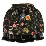 Red Valentino - Floral Skirt Black
