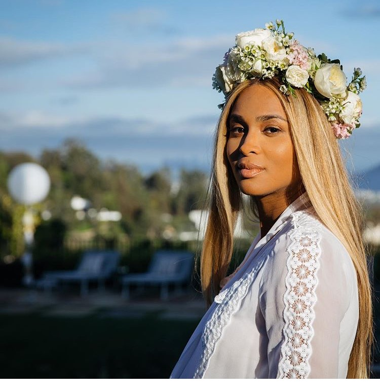 Ciara Releases Pictures From Her All White Baby Shower