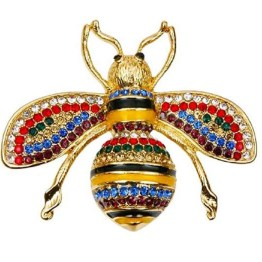 cf334e4bff0 Gucci Inspired Honey Bee Brooch