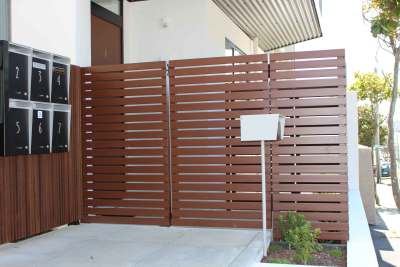 slat fence privacy garden screen fencing new zealand