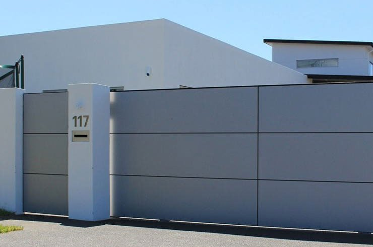 solid panel driveway gate