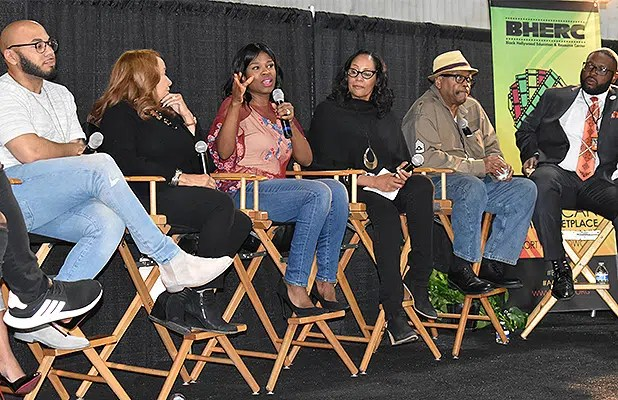 A Black Media and Marketing in Hollywood Panel took place on Saturday, Apri 28, 2018. (Credit: McKenzie Jackson)