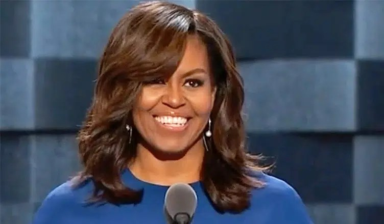 Michelle Obama at 2016 Democratic National Convention. (Credit: YouTube)