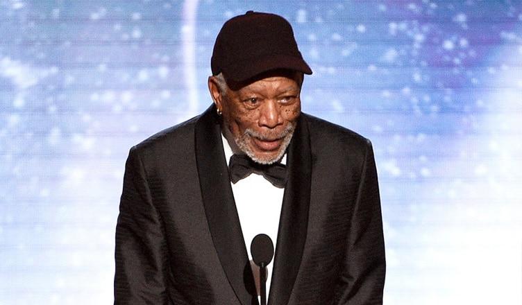 Morgan Freeman is shown at the 2018 SAG Awards. (Credit: YouTube)