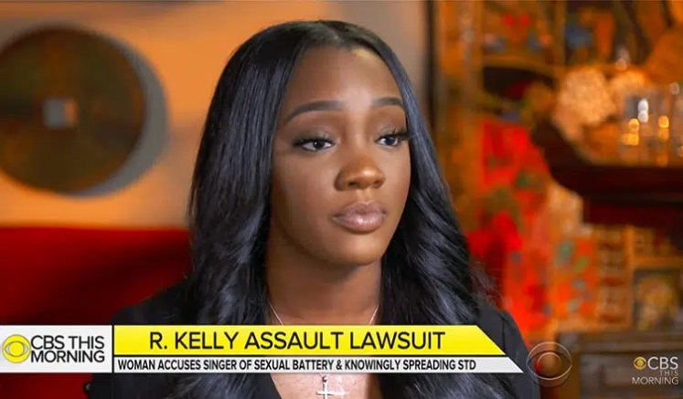 Faith Rodgers said she had a year-long relationship with R. Kelly. (Credit: CBS)