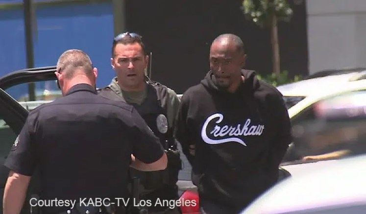 Darris Love Arrest (Credit: KABC-TV)
