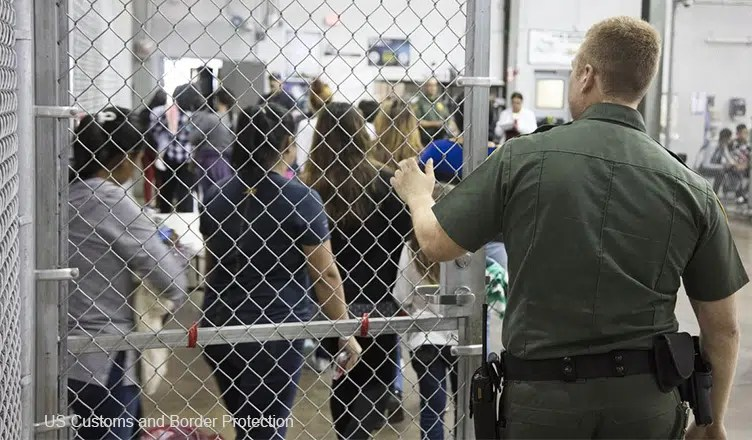 A government issued handout image of the US Border Patrol Central Processing Center in McAllen, Texas, on June 17, 2018. (Credit: US Customs and Border Protection)