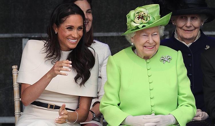 Meghan Markle and Queen Elizabeth Royal Engagement (Credit: Twitter/@KensingtonRoyal Follow Follow @KensingtonRoyal)