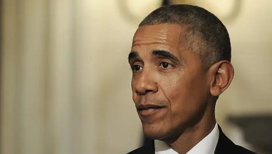 Barack Obama Attends News Conference (Credit: Deposit Photos)