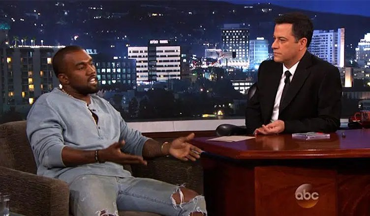 Kanye West on Jimmy Kimmel Live (Credit: ABC)