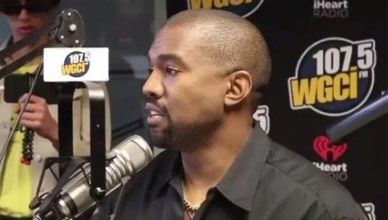 Kanye West Radio Interview (Credit: WGCI-FM)