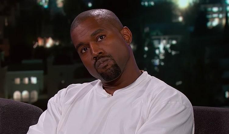 Kanye West on Jimmy Kimmel Live (Credit: ABC)