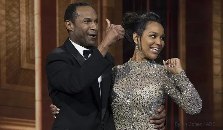 LisaRaye McCoy and Anthony B on The Proposal (Credit: Byron Cohen / ABC)
