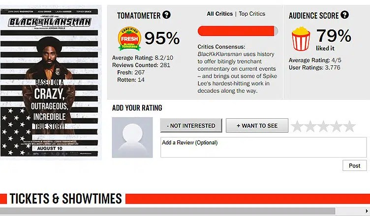 Rotten Tomatoes Website Image