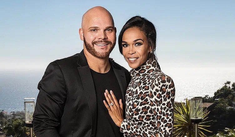 Chad Loves Michelle stars Chad Johnson and Michelle Williams are shown. (Credit: Own)