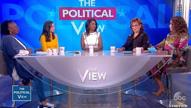 "Omarosa appeared on ""The View"" on Monday, September 10, 2018 (Credit: ABC)"
