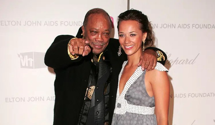 Quincy Jones and Rashida Jones At the 2007 Elton John Aids Foundation Oscar Party, Pacific Design Center, West Hollywood, CA 02-25-07 (Credit: Shutterstock)