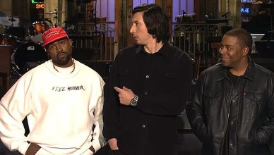 Kanye West on SNL. (Credit: NBC)