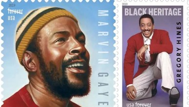 Marvin Gaye and Gregory Hines Postage Stamps (Credit: US Postal Service)