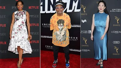Regina King, Spike Lee, Sandra Oh react to their Golden Globe nominations. (Credit: Shutterstock and Deposit Photos)