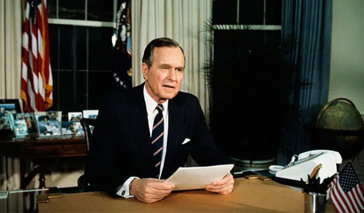 President George H.W. Bush (Credit: Youtube)