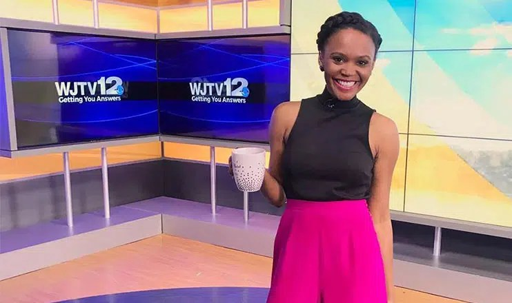 Brittany Noble-Jones was a morning news anchor at WJTV in Jackson, Mississippi (Credit: Instagram/The Noble Journalist)